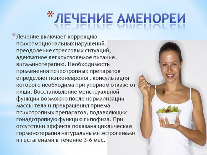 Лечение Аменореи