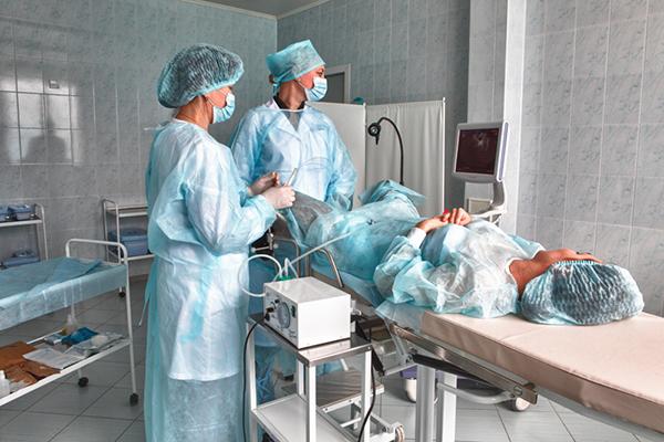 Просмотр яичников при стимуляции у пациентки