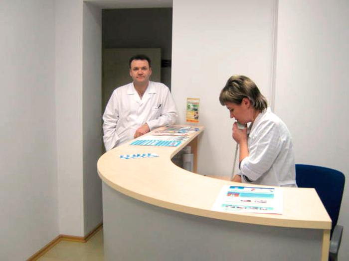 Рецепция в клинике