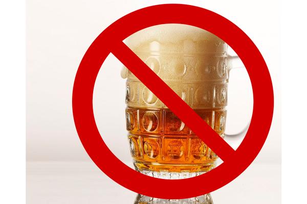 Запрет на употребления алкоголя с целью нормализации вязкости спермы