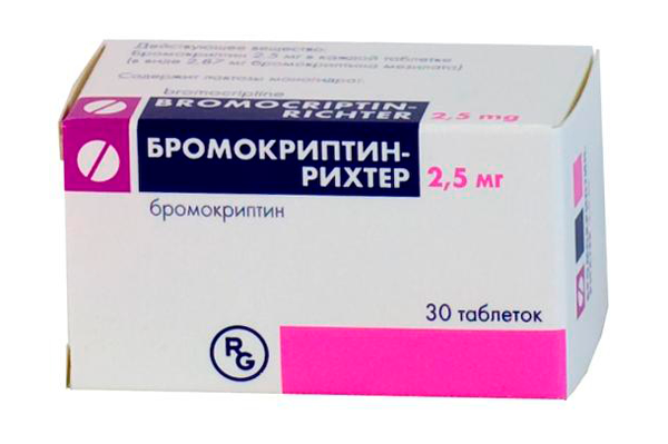 Препарат Бромокриптин для понижения уровня монопролактина