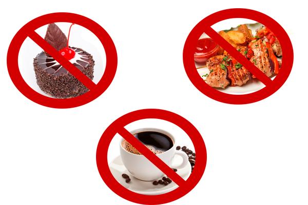 Запрет на острые блюда, сладости и черный кофе перед сдачей анализа на гормон