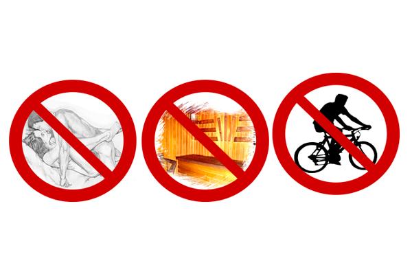 Запрет на секс,посещение сауны и езду на велосипеде перед спермограммой