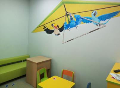 Детская комната в медицинском центре «ЛОДЭ» (Гродно)