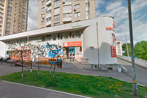 Расположение медицинского центра «Мать и дитя» (Киев)