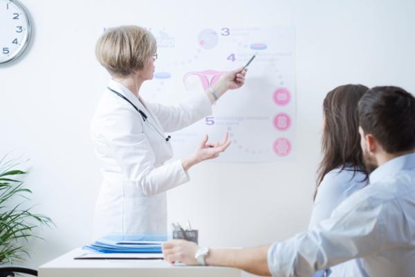 Консультация партнеров с врачом для устранения бесплодия