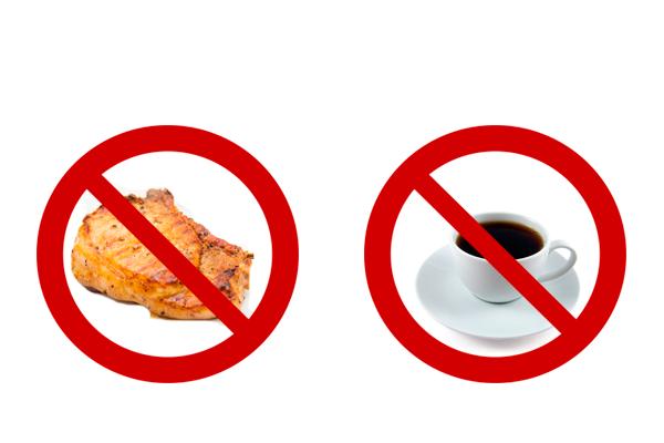 Исключение кофе и мясо из рациона питания для повышения уровня тестостерона