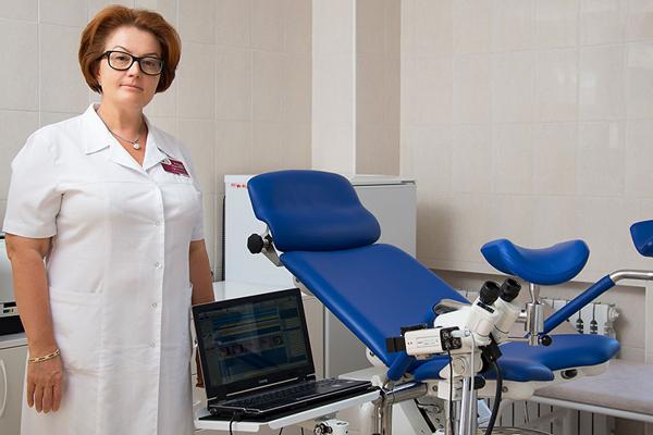Выявление эктопии шейки матки на осмотре у гинеколога
