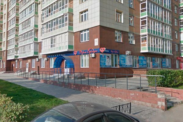 Расположение медицинской клиники «Три сердца» (Красноярск)