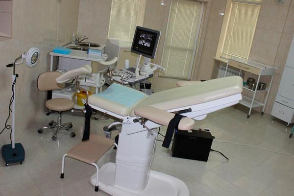 Кабинет гинеколога в Российско-Американском Центре репродукции и генетики человека (Сочи)