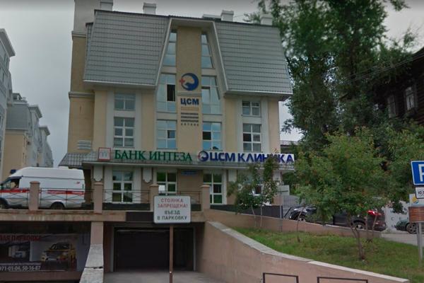 Расположение Центра репродуктивных технологий «Аист» (Томск)