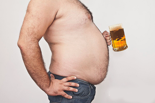 Живот в следствии злоупотребления пивом