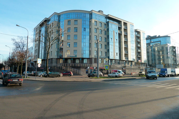 Расположение Балтийского института репродукции человека (Санкт-Петербург)