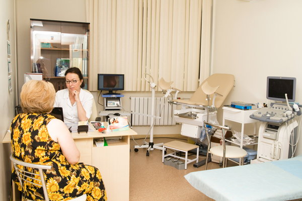 Кабинет гинеколога в клинике репродуктивной медицины «ИнТайм» (Москва)