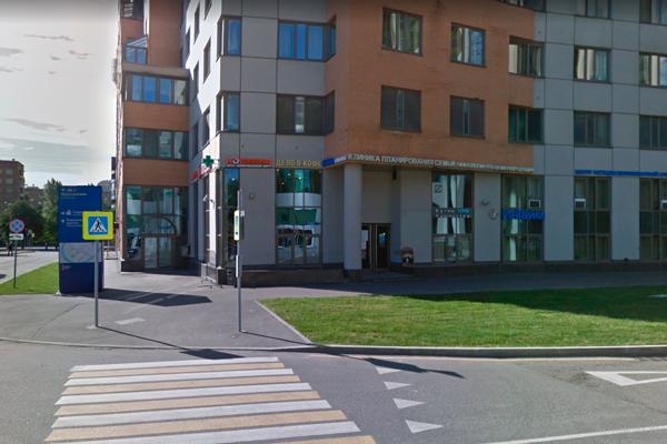 Расположение клиники репродуктивной медицины «ИнТайм» (Москва)