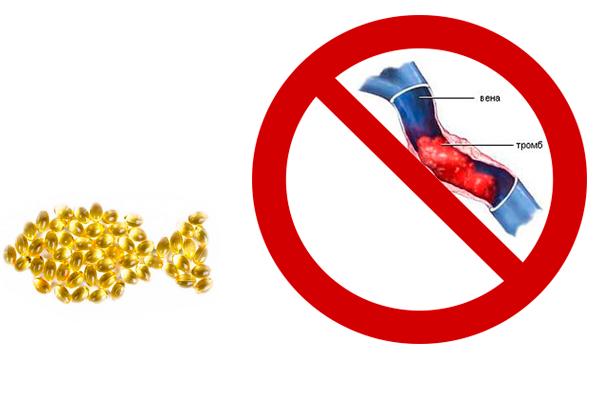 Предотвращение образования тромбов у беременной в следствии приема кислоты Омега 3
