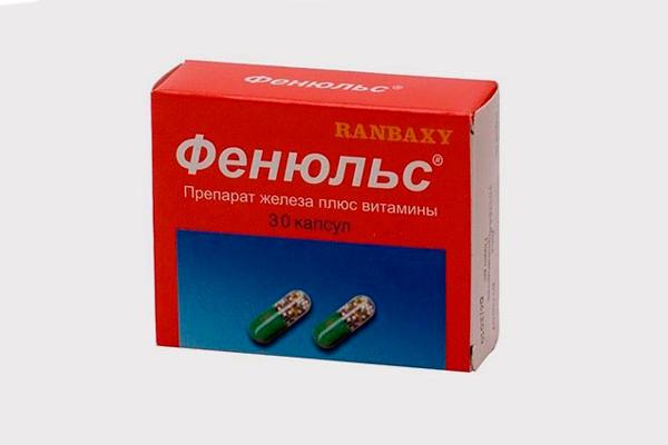 Фенюльс для лечения железодефицитной анемии