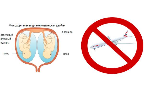 Запрет на перелет в самолете при многоплодной беременности