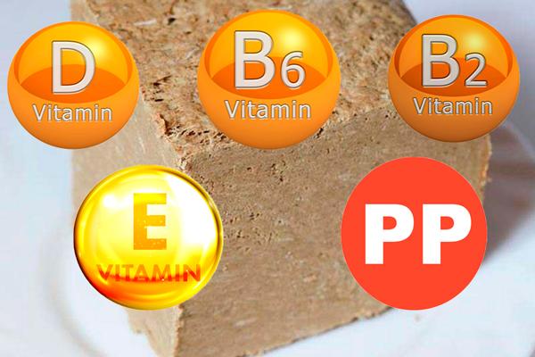 Витамины, входящие в состав халвы