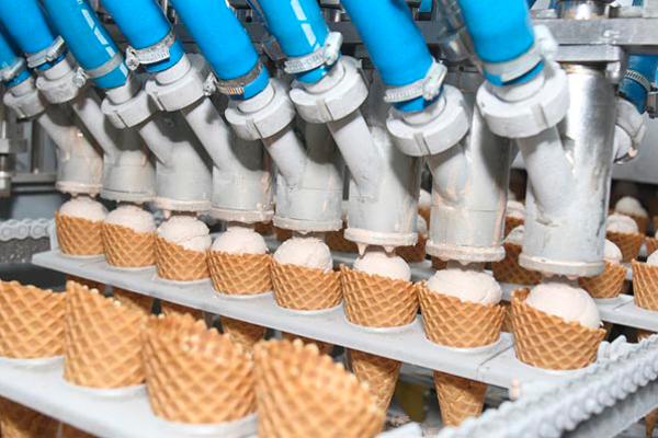 Процесс производства мороженного