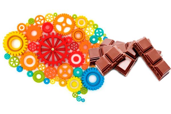 Улучшение работы мозга при употреблении шоколада