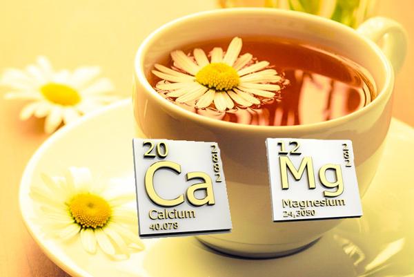 Наличие в составе ромашкового чая кальция и магния