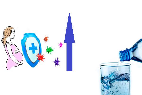 Стимуляция иммунитета у беременной в следствии приема минеральной воды