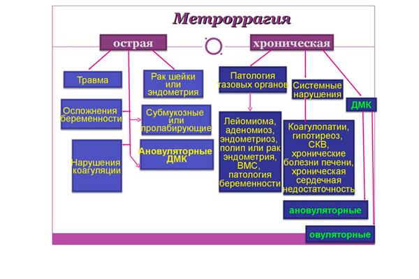 Классификация метроррагии